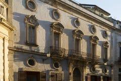 Centrum van de Galatina het historische stad - Salento - Italië Royalty-vrije Stock Foto