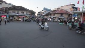 Centrum van de stad van DA Lat in Vietnam stock footage