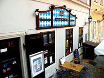 Centrum van de stad, GyÅ ` r, Hongarije stock fotografie