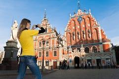 Centrum van de Stad van Riga het oude Stock Afbeeldingen