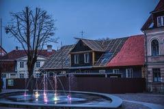 Centrum van Kuldiga, Letland stock afbeeldingen