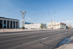 Centrum van Minsk Royalty-vrije Stock Foto's