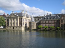 Centrum van Nederlandse politiek Hofvijver Royalty-vrije Stock Fotografie