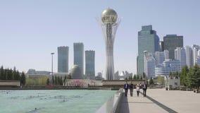 Centrum van nieuwe Astana stock video