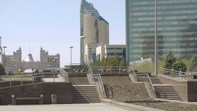 Centrum van nieuwe Astana stock videobeelden