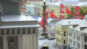 Centrum van Sankt Petersburg en rastralnye kolom stock footage