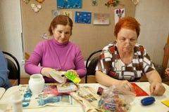 Centrum van sociale voorzieningen voor gepensioneerden Stock Foto's