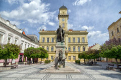 Centrum van stad Komarno, Slowakije Stock Foto's