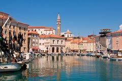Centrum van stad Piran Royalty-vrije Stock Afbeelding
