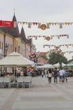 Centrum van Vinkovci Stock Foto's