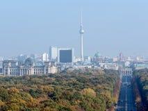 Centrum widzieć od zwycięstwo kolumny Berlin Zdjęcie Stock