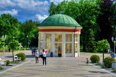 Centrum zdrój grodzki Frantiskovy Lazne - republika czech zdjęcia royalty free