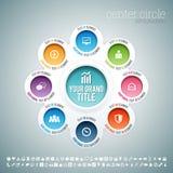Centrumcirkel Infographic royalty-vrije illustratie