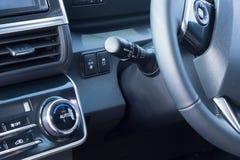 Centrumcontrole voor nieuwe auto Stock Afbeeldingen