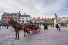 Centrummarkt van Brugge, België Royalty-vrije Stock Fotografie