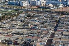 Centrumslumkvarter i Casablanca Royaltyfri Foto