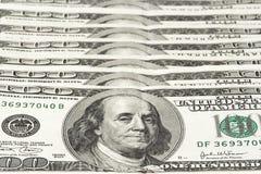 Cents billets d'un dollar Images stock