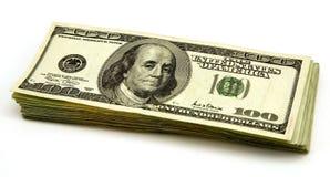 Cents billets d'un dollar Photo stock