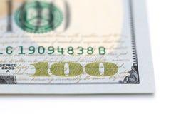 Cents billets d'un dollar Images libres de droits