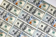 Cents billets de banque du dollar Dollars de concept de plan rapproché américain photos libres de droits