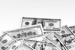Cents billets de banque du dollar Dollars de concept de plan rapproché américain images libres de droits