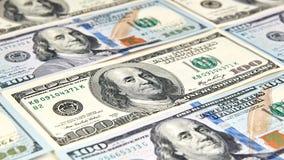 Cents billets de banque du dollar Dollars de concept de plan rapproché américain image libre de droits