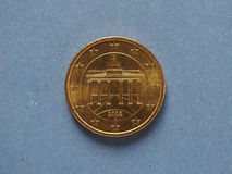 50 cents coin, European Union, Germany. 50 cents coin money EUR, currency of European Union, Germany royalty free stock photography