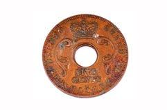 cents coin tappning fem royaltyfri foto
