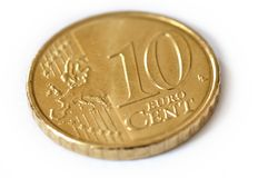 10 cents d'euro Photographie stock libre de droits