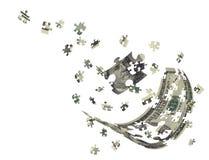 Cents de billet d'un dollar verticales séparément Image stock