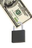 Cents dollars avec un blocage Photo libre de droits