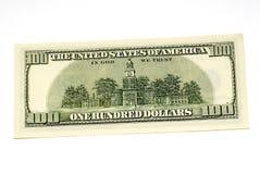 Cents dos de billet d'un dollar Images libres de droits
