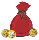 Cents et sac Images stock