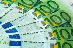 Cents euro billets de banque nominaux Images libres de droits