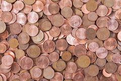 Cents of euro or copper coins Stock Photography
