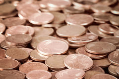 Cents of euro or copper coins Royalty Free Stock Photography