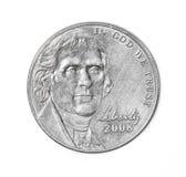 cents fem royaltyfri bild