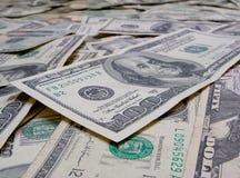 Cents fins de billet d'un dollar vers le haut. Photo stock