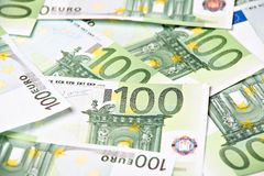 Cents fonds d'euro Images libres de droits