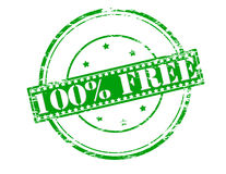Cents pour cent libèrent Image libre de droits