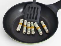 Cents saucisses en provenance de la zone dollar Photographie stock libre de droits
