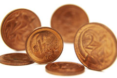 Cents standing up Stock Image