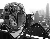 50 cents to fly. View from the Top of the Rock, NYC Royalty Free Stock Photography