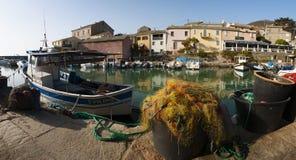 Centuri port, Portowy De Centuri, Haute Corse, przylądek Corse, Corsica, Górny Corsica, Francja, Europa, wyspa Obraz Stock