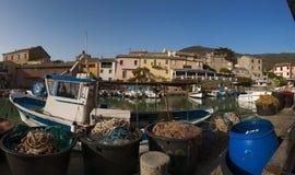 Centuri port, Portowy De Centuri, Haute Corse, przylądek Corse, Corsica, Górny Corsica, Francja, Europa, wyspa Zdjęcia Royalty Free
