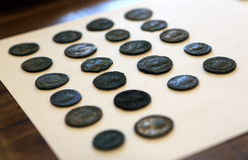 Centuries old coins Royalty Free Stock Image