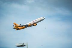 Centurion Cargo Jet in flight Stock Photography