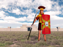 Centurion. Computer generated 3D illustration with a Roman centurion stock illustration