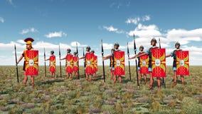 Centurion et légionnaires illustration libre de droits