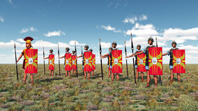 Centurion and legionaries Stock Photo